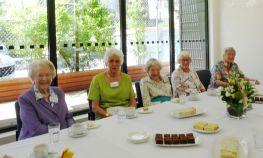 Society Tea- Judy Gregory, Angela Grutzner, Sally Salter, Joyce Francis, Ivy Roberts